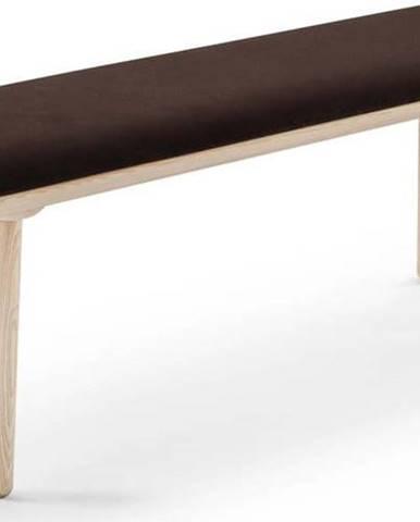 Hnědá sametová lavice EMKO Naïve,140cm