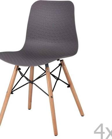 Sada 4 černých jídelních židlí sømcasa Tina