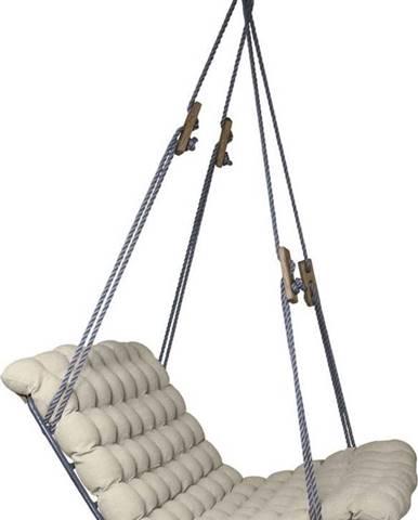 Světle šedá závěsná dvoumístná relaxační houpačka Linda Vrňáková Vikos