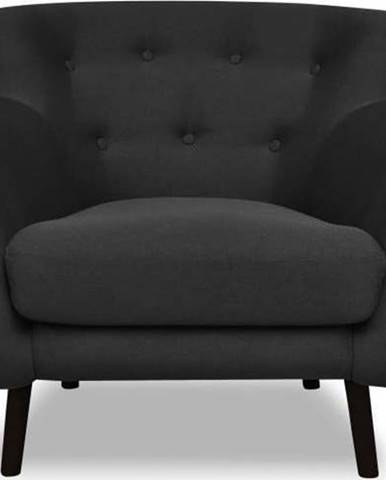 Tmavě šedé křeslo Cosmopolitan design Hampstead