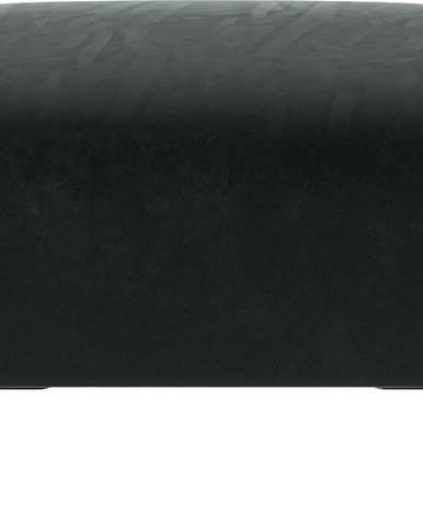 Tmavě šedý sametový puf Ghado Shel