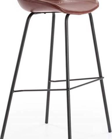 Vínově červená barová židle Marckeric Eddie