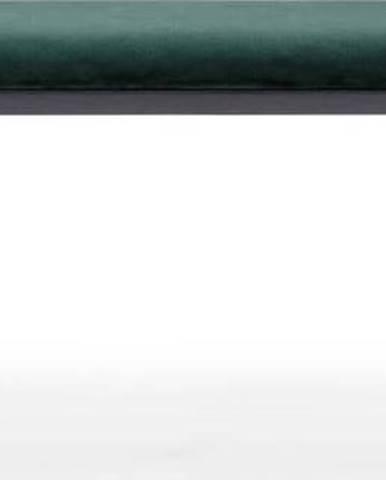 Zeleno-černá sametová lavice EMKO Naïve,140cm