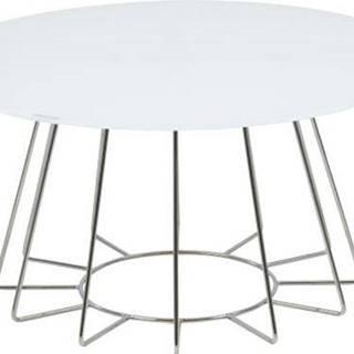 Bílý konferenční stolek Actona Casia, ⌀ 80 cm