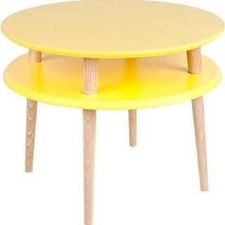Žlutý konferenční stolek Ragaba UFO,⌀57cm