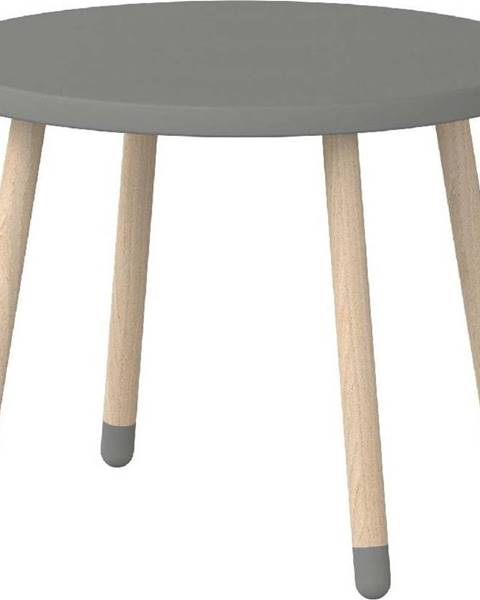 Flexa Šedý dětský stolek Flexa Dots, ø 60 cm