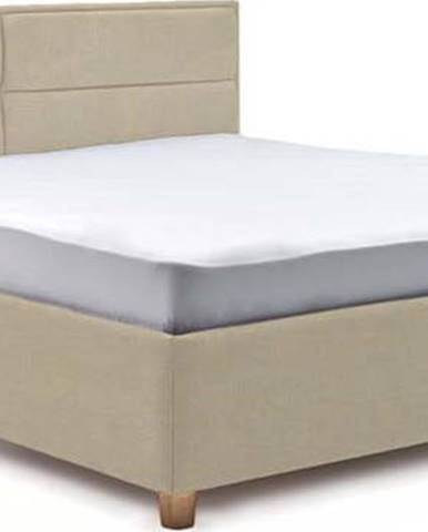 Béžová dvoulůžková postel s úložným prostorem ProSpánek Grace, 180 x 200 cm