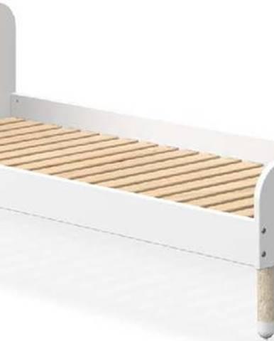 Bílá dětská postel Flexa Dots, 90 x 190 cm