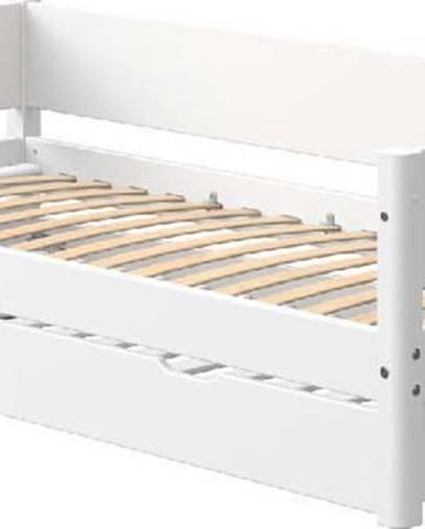 Bílá dětská postel s výsuvným lůžkem Flexa White Single, 90x200cm