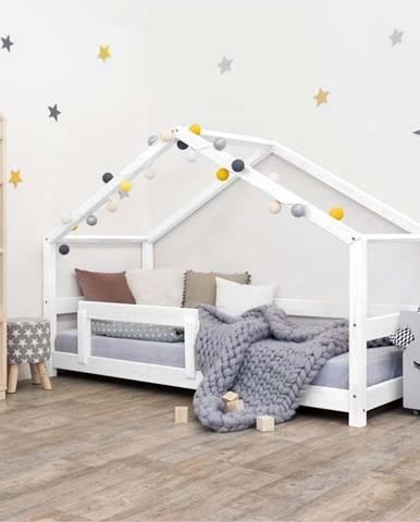 Bílá dřevěná dětská postel Benlemi Lucky,120x200cm