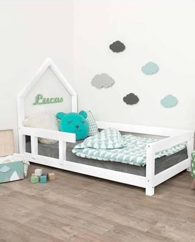 Bílá dřevěná dětská postel Benlemi Pippi,80x160cm