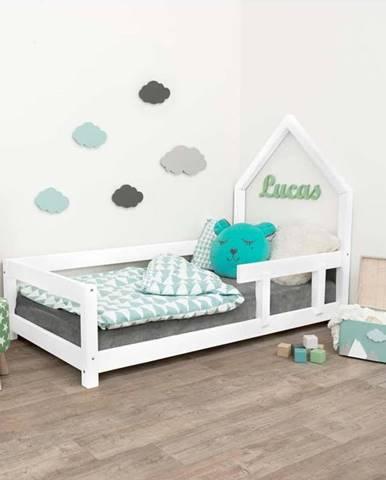 Bílá dřevěná dětská postel Benlemi Poppi,90x180cm