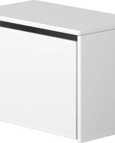 Bílá úložná lavice Flexa Dots