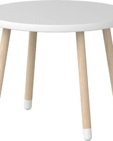 Bílý dětský stolek Flexa Dots, ø 60 cm