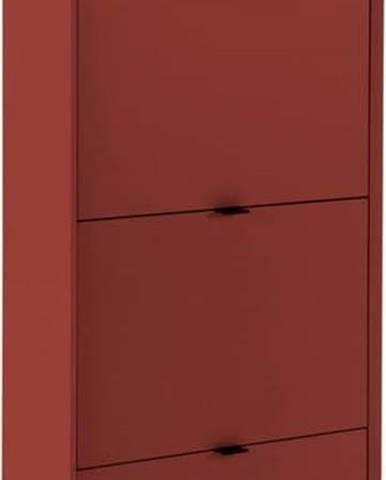 Červený botník se 4 zásuvkami Marckeric Luka