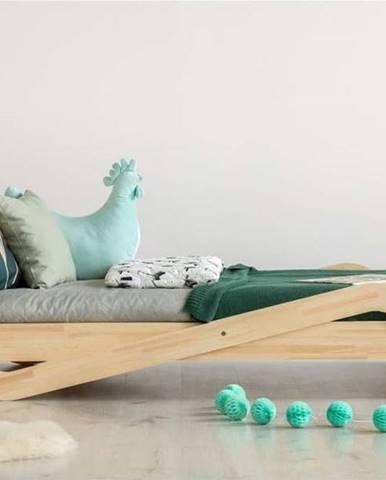 Dětská postel z borovicového dřeva Adeko Zigzag, 90 x200 cm
