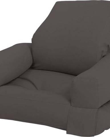Dětské rozkládací křesílko Karup Design Mini Hippo Dark Grey