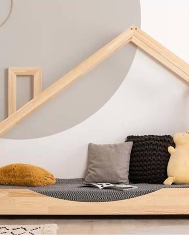 Domečková postel z borovicového dřeva Adeko Luna Elma,70x200cm