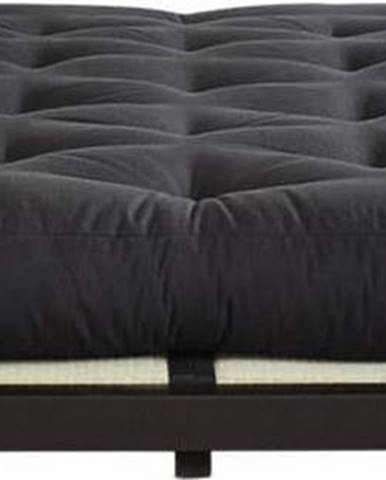 Dvoulůžková postel z borovicového dřeva s matrací Karup Design Dock Comfort Mat Black/Black, 160 x 200 cm