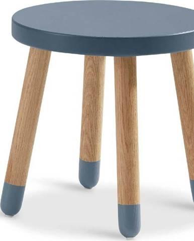Modrá dětská stolička Flexa Dots, ø 30 cm