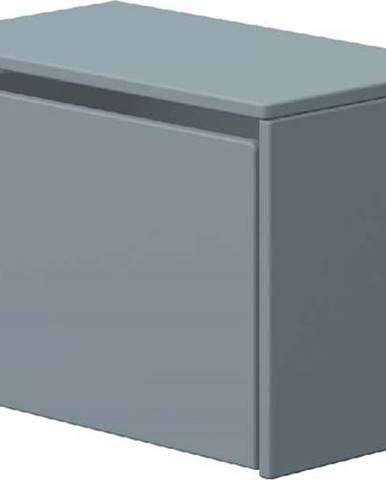 Modrá úložná lavice Flexa Dots