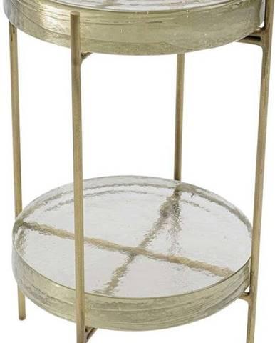 Odkládací stolek ve zlaté barvě Kare Design Ice Double, ø 30 cm