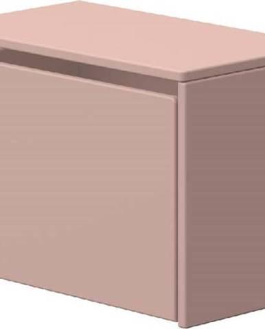 Růžová úložná lavice Flexa Dots