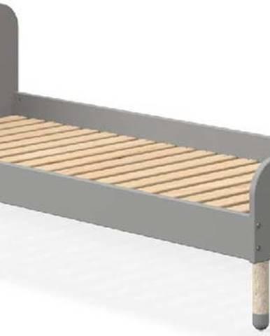 Šedá dětská postel Flexa Dots, 90 x 190 cm