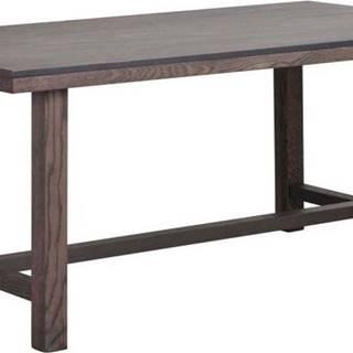 Tmavě hnědý dubový jídelní stůl Rowico Brooklyn, 170 x 95 cm