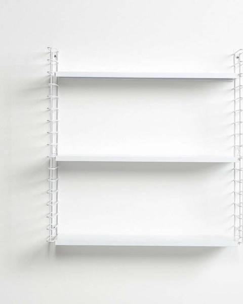 Metaltex 3patrový regál s bílými policemi Metaltex Libro, délka 70 cm