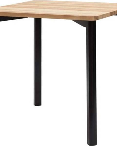 Ragaba Černý jídelní stůl se zaoblenými nohami Ragaba TRIVENTI, 80x80cm