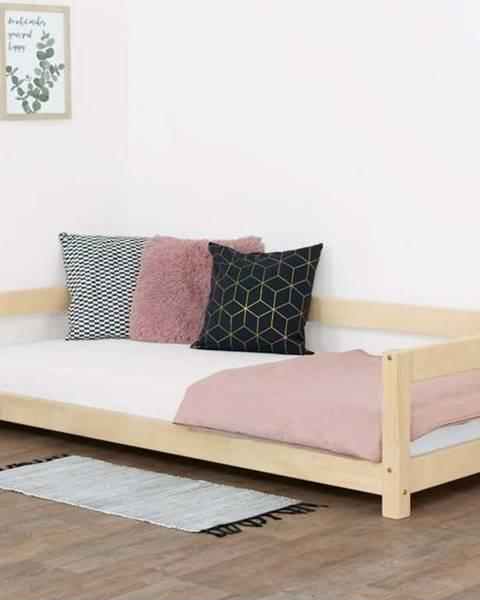 Benlemi Přírodní dětská postel ze smrkového dřeva BenlemiStudy, 90x160cm
