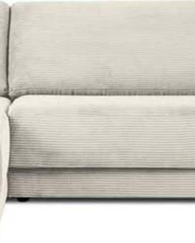 Béžová manšestrová rozkládací rohová pohovka Milo Casa Donatella, levý roh