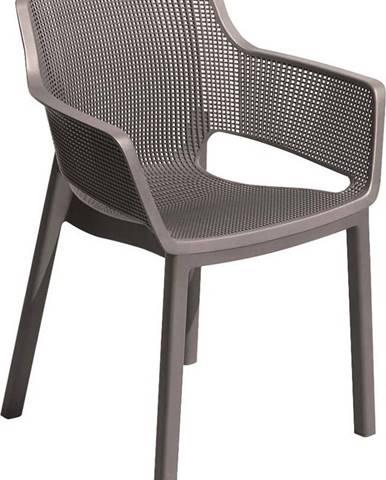 Hnědá zahradní židle Keter Elisa
