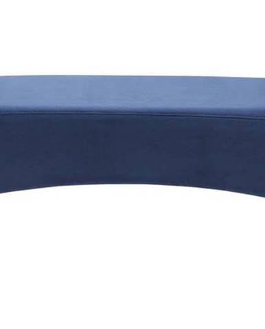 Modrá sametová lavice Kare Design Motley