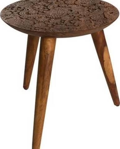 Odkládací stolek ze dřeva palisandru sheesham Dutchbone, ⌀ 35 cm