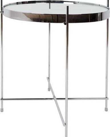 Odkládací stolek ve stříbrné barvě Zuiver Cupid