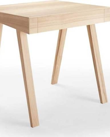 Psací stůl z jasanového dřeva EMKO, 80 x 70 cm
