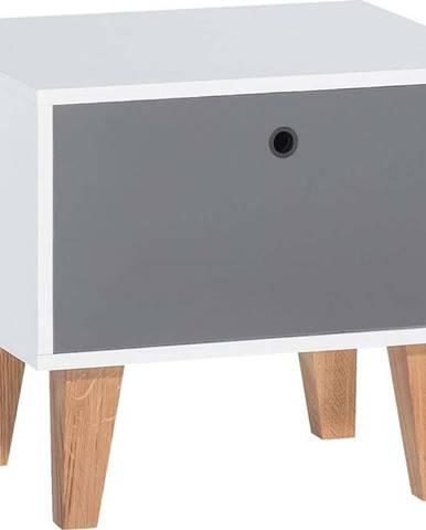 Šedo-bílý noční stolek Vox Concept