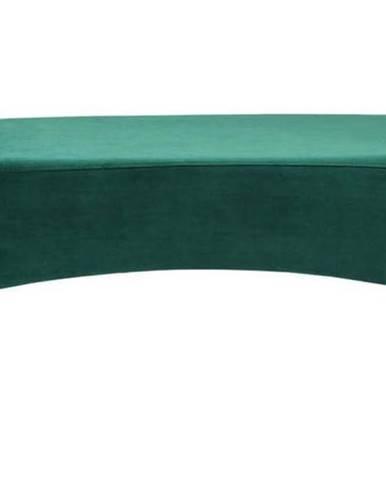 Zelená polstrovaná lavice Kare Design Motley