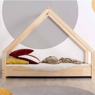 Domečková dětská postel z borovicového dřeva Adeko Loca Elin,80x190cm