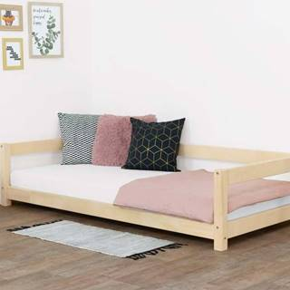 Přírodní dětská postel ze smrkového dřeva BenlemiStudy, 90x160cm