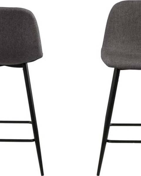 Actona Sada 2 tmavě šedých židlí Actona Wilma