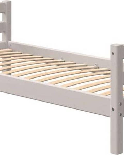 Flexa Šedá dětská postel z borovicového dřeva Flexa Classic