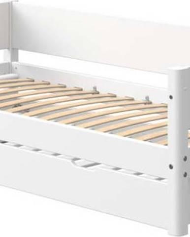 Bílá dětská postel s přídavným výsuvným lůžkem Flexa White