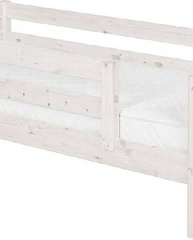 Bílá dětská postel z borovicového dřeva s bezpečnostní lištou Flexa Classic, 90x200cm