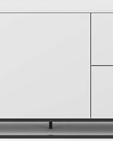 Bílá komoda s černými kovovými nohami TemaHome Join