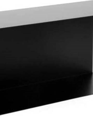 Černá železná police Canett Joy Adams, 23x50cm