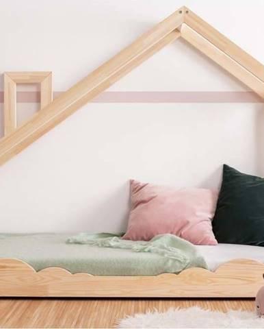 Domečková postel z borovicového dřeva Adeko Luna Drom,80x200cm