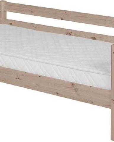 Hnědá dětská postel z borovicového dřeva Flexa Classic, 90x200cm